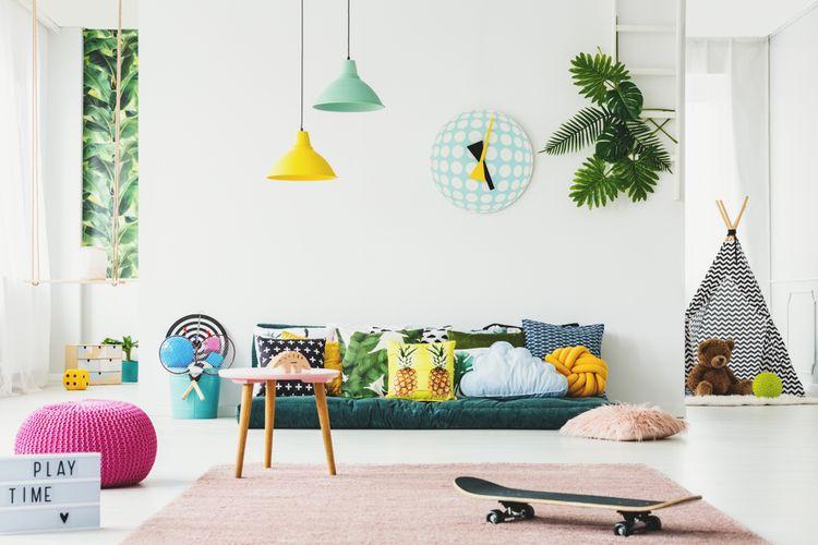 Detská izba so zelenými doplnkami