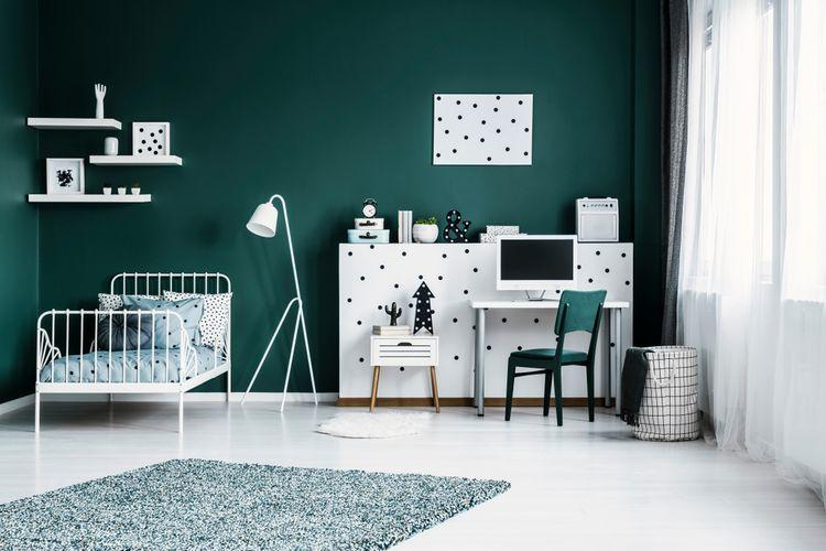 Zeleno-biela detská izba