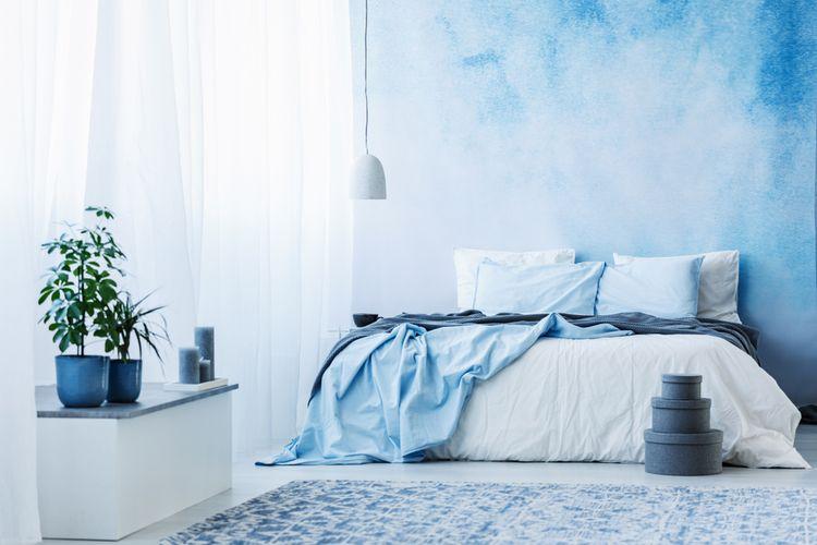 Bledomodrá spálňa