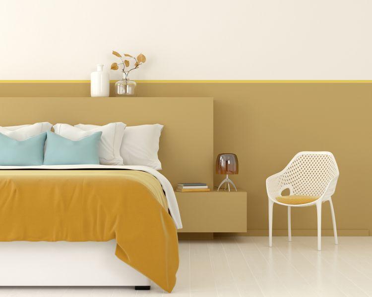 Žltá spálňa s kreslom