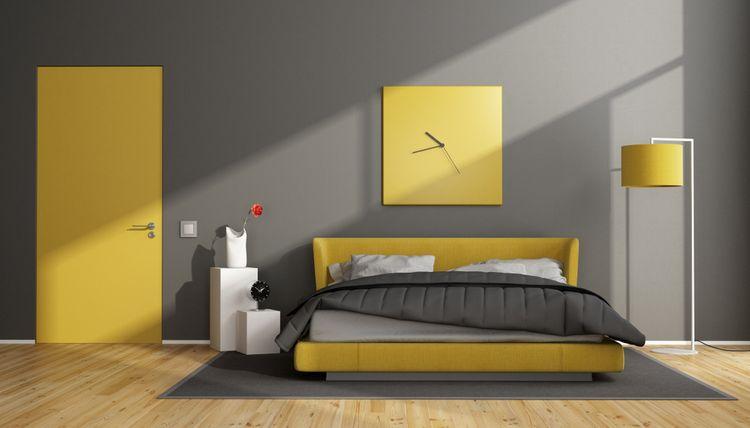 Žltá v spálni