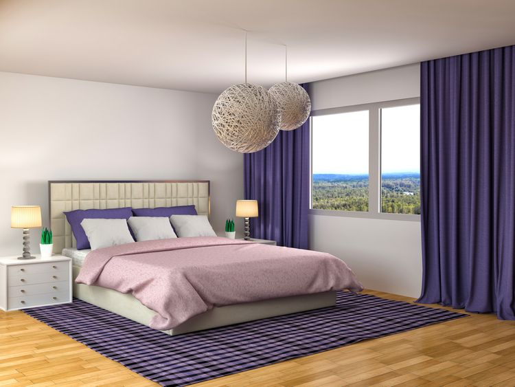 Spálňa vo fialovej