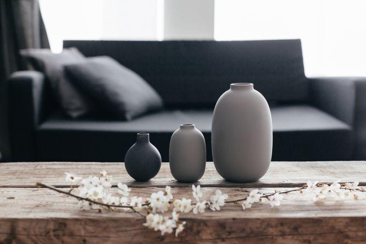 Sivé vázy