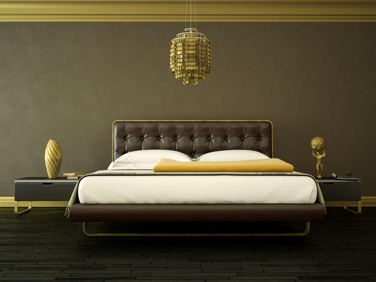 Moderná hnedá spálňa