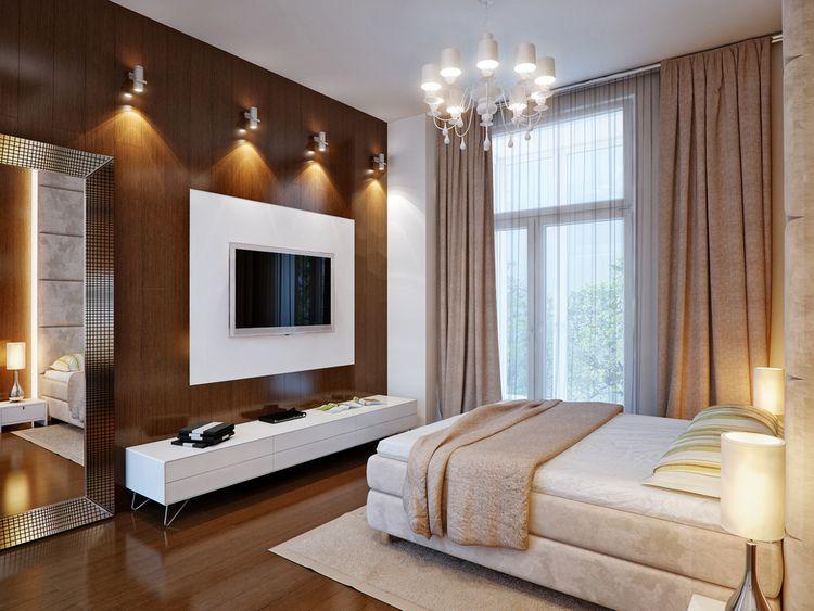 Spálňa ladená do hnedej