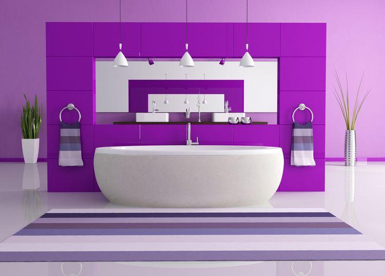 Fialová kúpeľňa