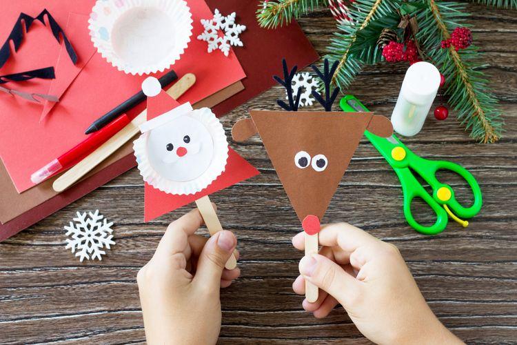 Vianočné dekorácie z papiera pre deti
