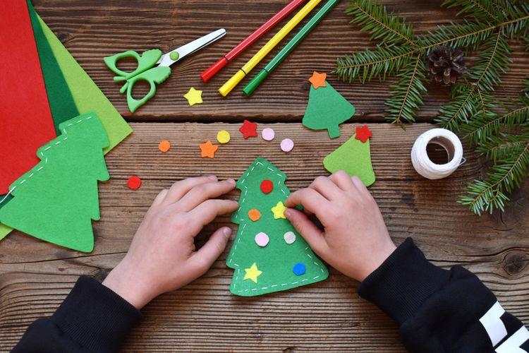 Vianočný stromček z filcu