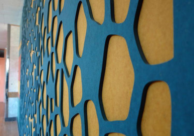 Dekoratívna stena z farebných dosiek ForesColor