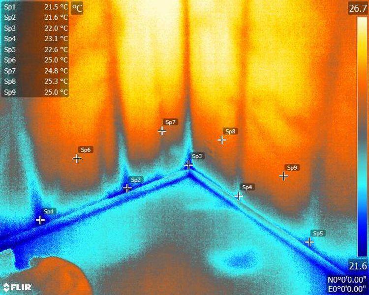 Meranie tepelných únikov budov