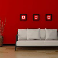 Červená obývačka – každého upúta na prvý pohľad