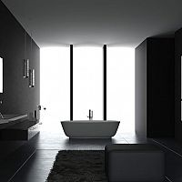 Čierna kúpeľňa – vyzerá lepšie ako by sa mohlo zdať