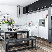 Čierno-biela kuchyňa – overená klasika, ktorá nesklame
