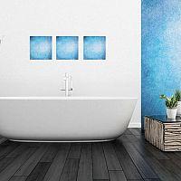 Modrá kúpeľňa dodá vášmu bytu šmrnc