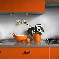 Oranžová kuchyňa – netradičná, ale vhodná voľba