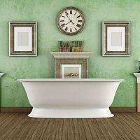 Zelená kúpeľňa nemusí byť tuctová
