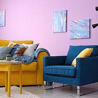 Žltá obývačka vás nabije energiou
