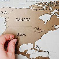 Stieracia mapa sveta na stenu: Ukážeme vám tie najkrajšie miesta