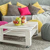 Puf na sedenie - pletená taburetka, ktorú si môžete vyrobiť