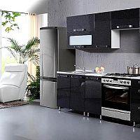 Lesklé čierne kuchyne do modernej domácnosti