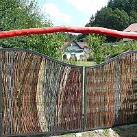 Prútené zásteny a ploty z vŕbového prútia