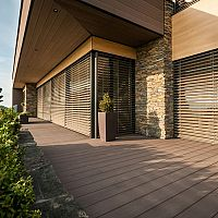Kvalitná kompozitná terasa pri rodinný dom