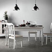 Bonami jedáleň s bielym stolom a stoličkami