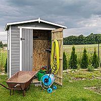 Záhradný domček na náradie, bicykle aj celoročné bývanie