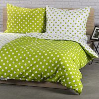 4Home Bavlnené obliečky Zelená bodka, 220 x 200 cm, 2 ks 70 x 90 cm