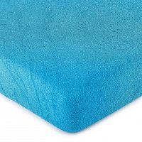 4Home froté prestieradlo tmavo modrá, 180 x 200 cm