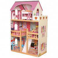 Bino Detský drevený domček s nábytkom