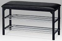 Botník/taburet 2 poschodia, čierna, 83168-13 BK
