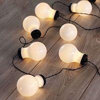 DecoKing Svetelná reťaz Žiarovky teplá biela, 10 LED