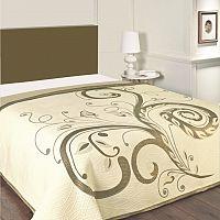 Forbyt Prehoz na posteľ Dominic béžový, 140 x 220 cm