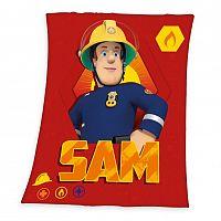 Herding Detská deka Požiarnik Sam, 130 x 160 cm