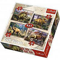 Trefl Dinosaury 4v1