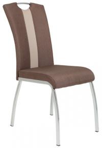 Jedálenská stolička Amber 3, hnedá látka / ekokoža