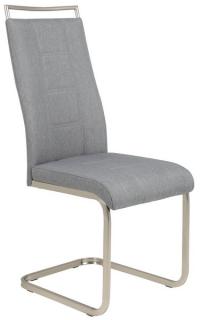 Jedálenská stolička Amber 6, šedá látka