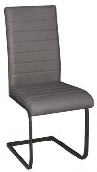Jedálenská stolička Arden, šedá ekokoža