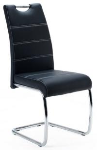 Jedálenská stolička Flora, černá ekokoža