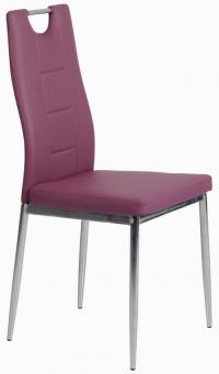 Jedálenská stolička Melanie, fialová ekokoža