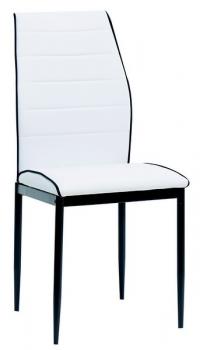 Jedálenská stolička Round, biela ekokoža