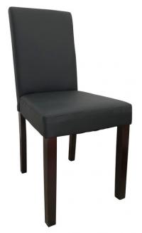 Jedálenská stolička Rudy, čierna ekokoža