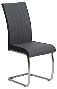Jedálenská stolička Vertical, čierna/biela ekokoža