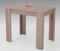 Jedálenský stôl Eva, 90x60 cm, dub sonoma, rozkladací