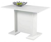 jedálenský stôl Ines 108x68 cm, biely