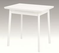 Jedálenský stôl Trier II 75x55 cm, biely, rozkladacia