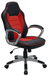 Kancelárske kreslo Star, čierne / červené