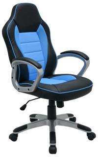 Kancelárske kreslo Star, čierne/modré