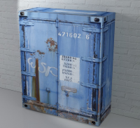 Komoda Rusty 1, modrá